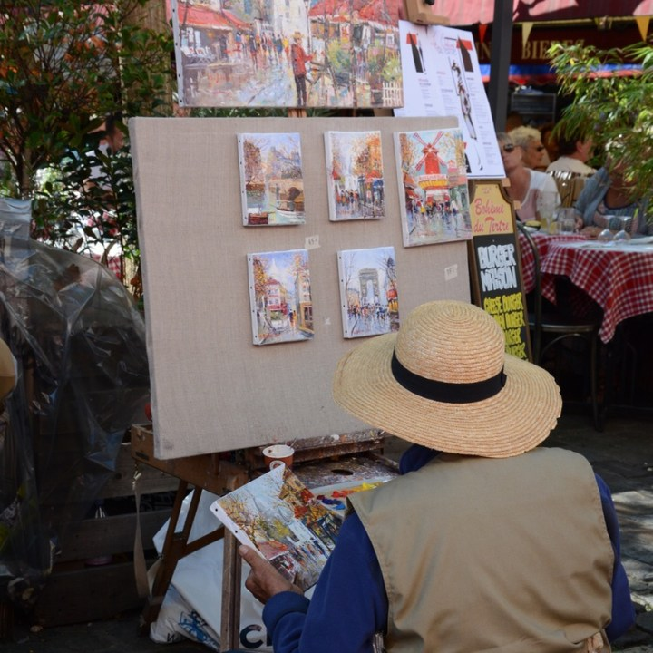 Paris France montmatre artist painter