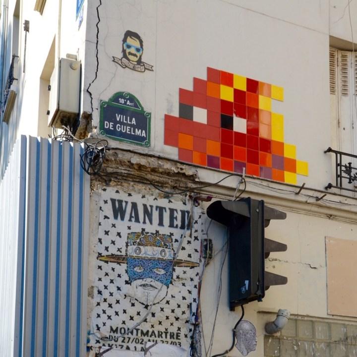 Paris France montmatre streetart spaceinvader