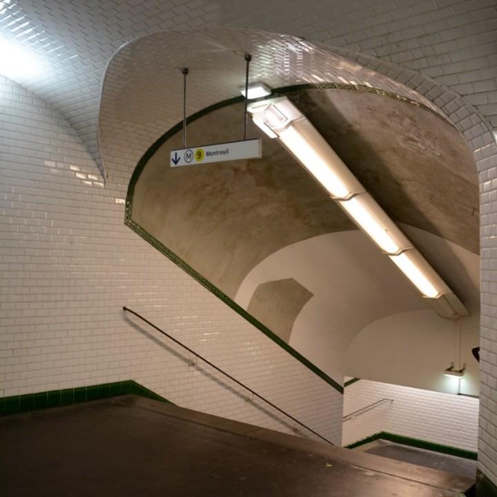 paris metro station grand boulevard