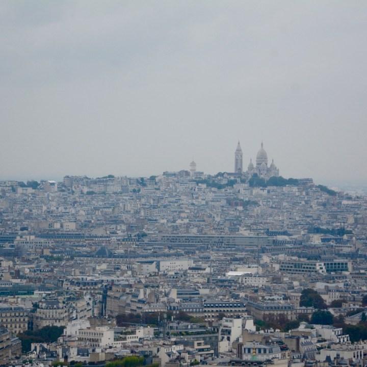 paris france eiffel tower view sacre coeur