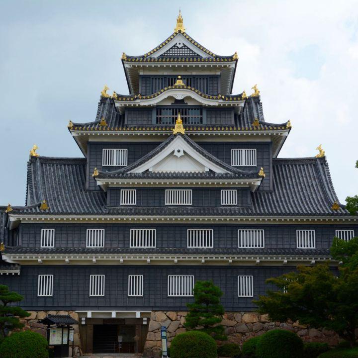 Okayama castle main keep japan