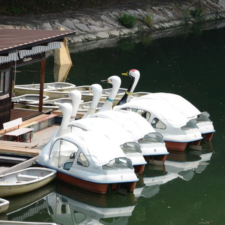 Okayama pedal boats river asahi