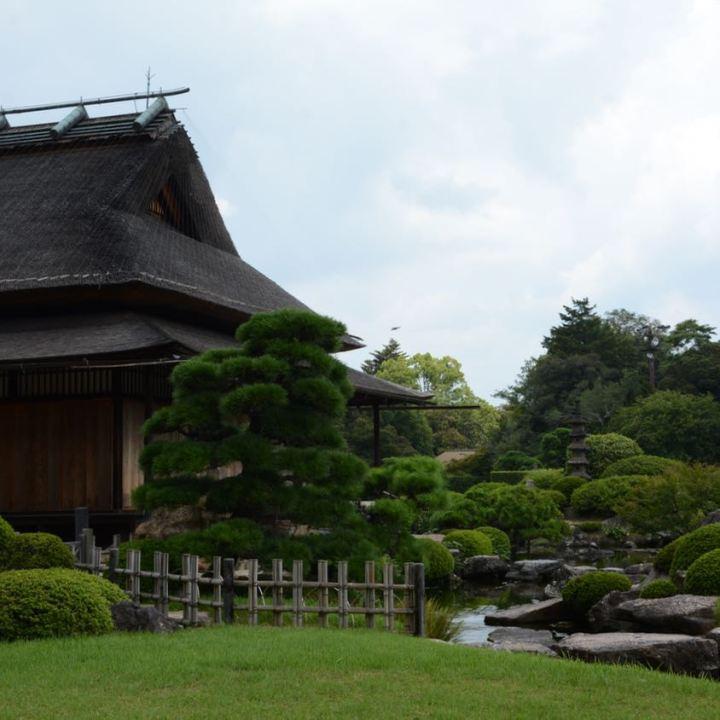 Okayama garden korakuen edo period house