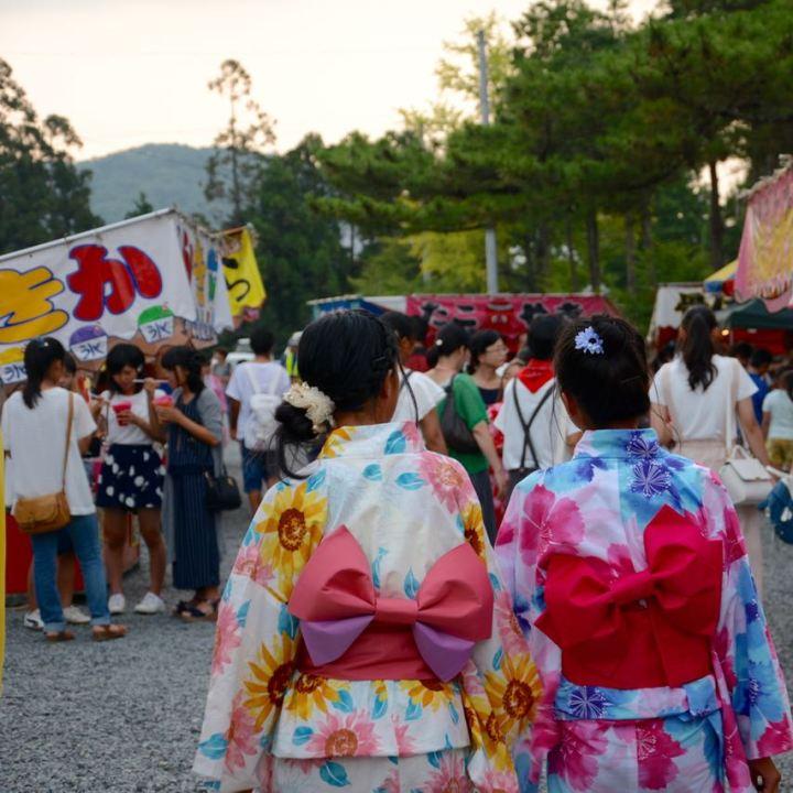 Okayama, Japan   Japanese Summer Festival Fun at Kibuhitso Shrine