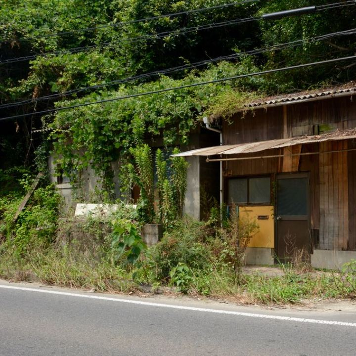 Onomichi roadside abondened house