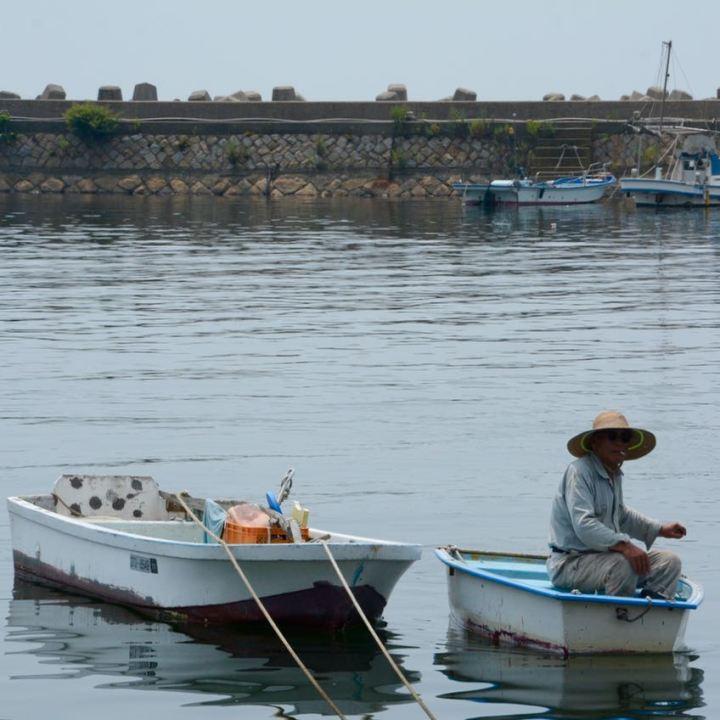 Tomonoura japan fisher man