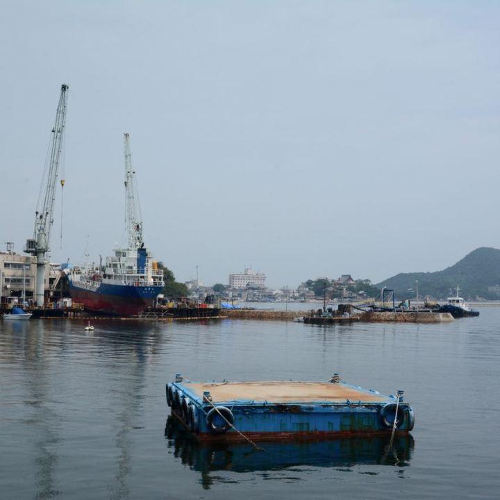 Tomonoura japan port dry ship building dock
