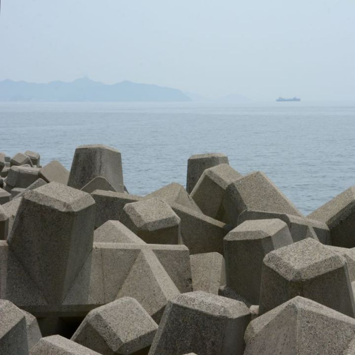 Tomonoura japan port wave breakers