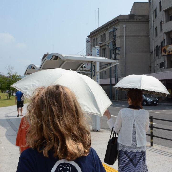 Onomichi japan temple walk umbrella