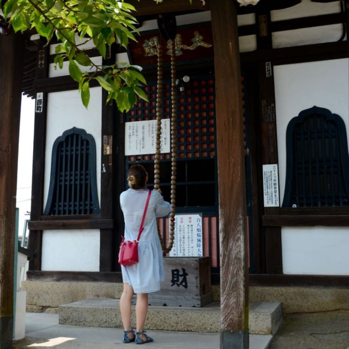 onomichi temple walk shrine bell