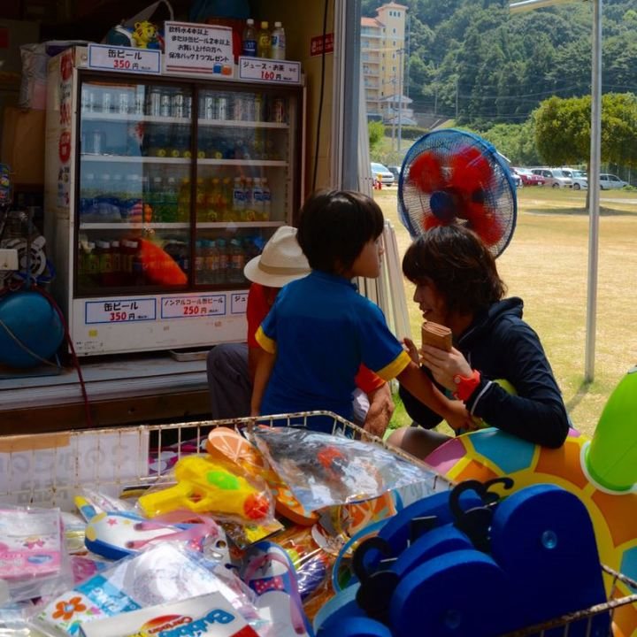 innoshima shimanami kaido cycle path beach shop
