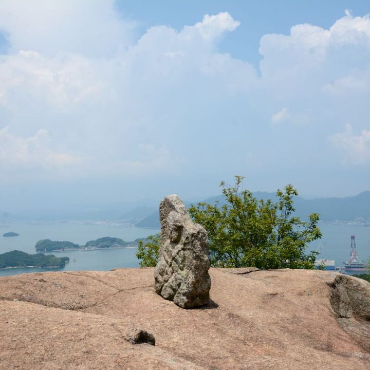 innoshima shiarataki shrine rock view
