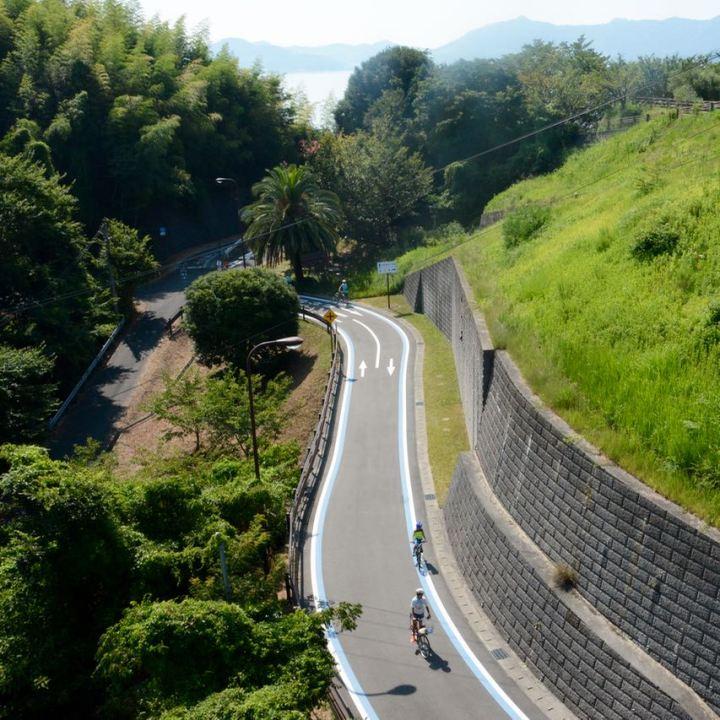 shimanami kaido cycling path seto inland sea