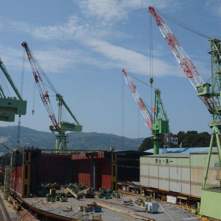 shimanami kaido cycling seto inland sea hakata jima shipyard