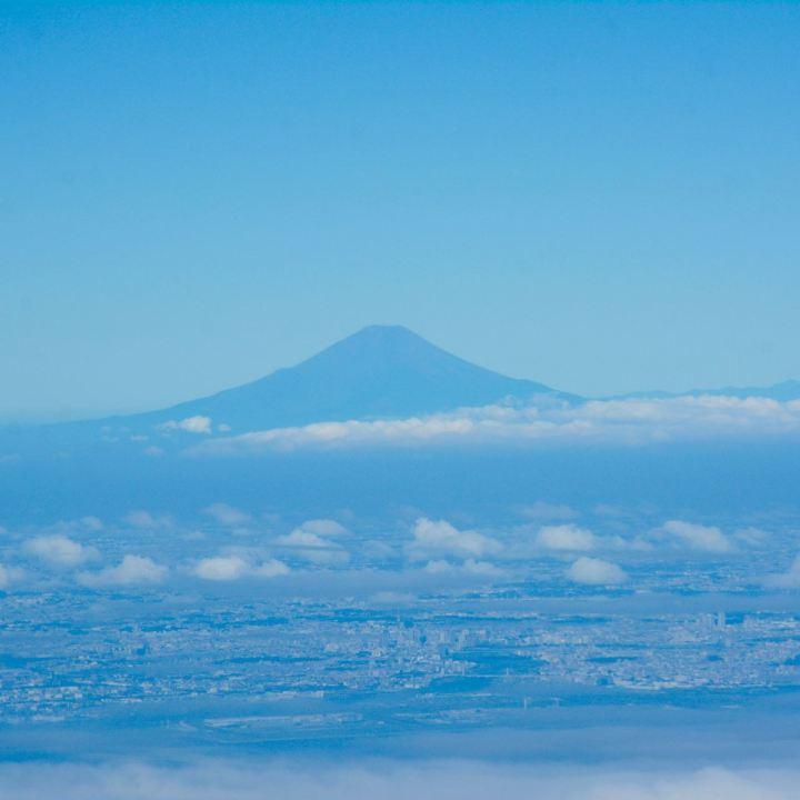 Fuji-san seen from plane