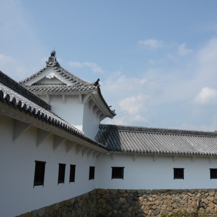 himeji castle architecture princess quarter from the outside