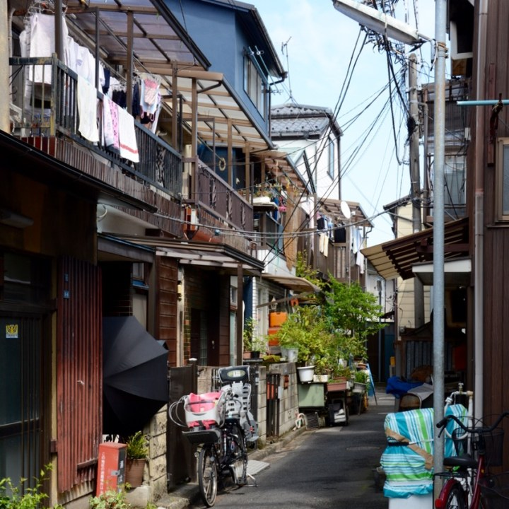 yanaka little alley residential houses