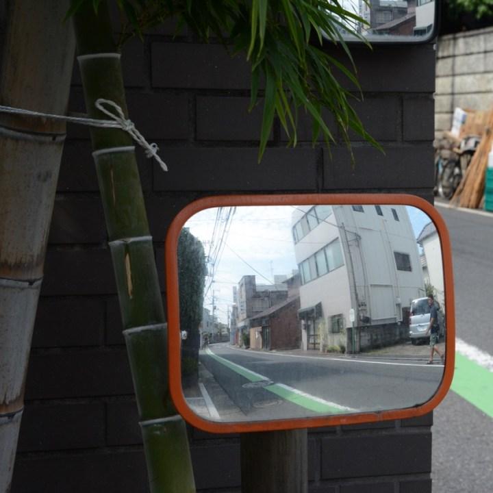 yanaka road street mirror