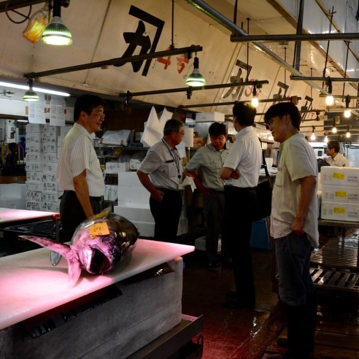 Tsukiji tokyo fish market bartering