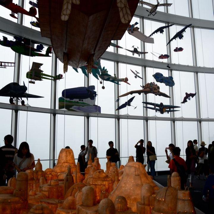 roppongi tokyo mori art museum ghibli exhibition planes