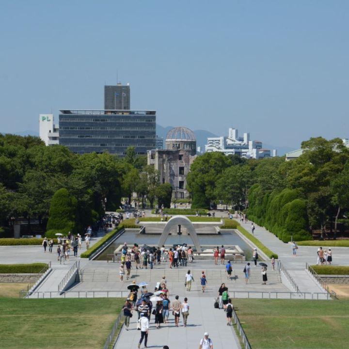 Hiroshima A bomb dome memeorial peace park tourists