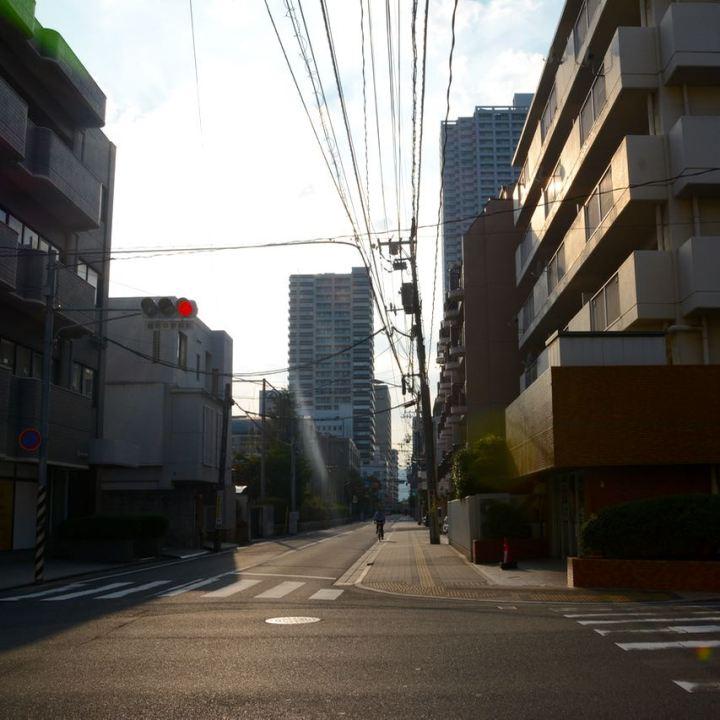 Hiroshima streets sunset