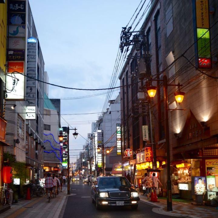 Hiroshima evening lights