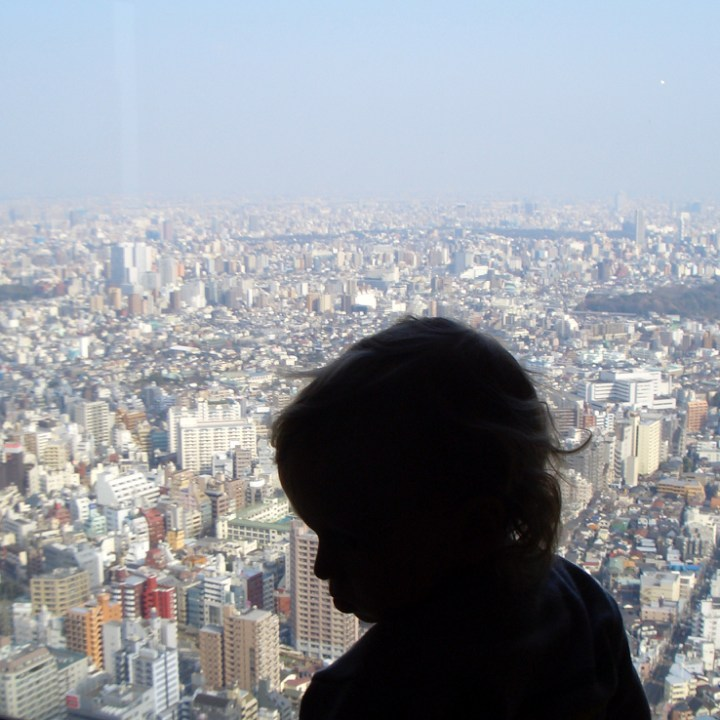 travel japan with children tokyo mori tower city view