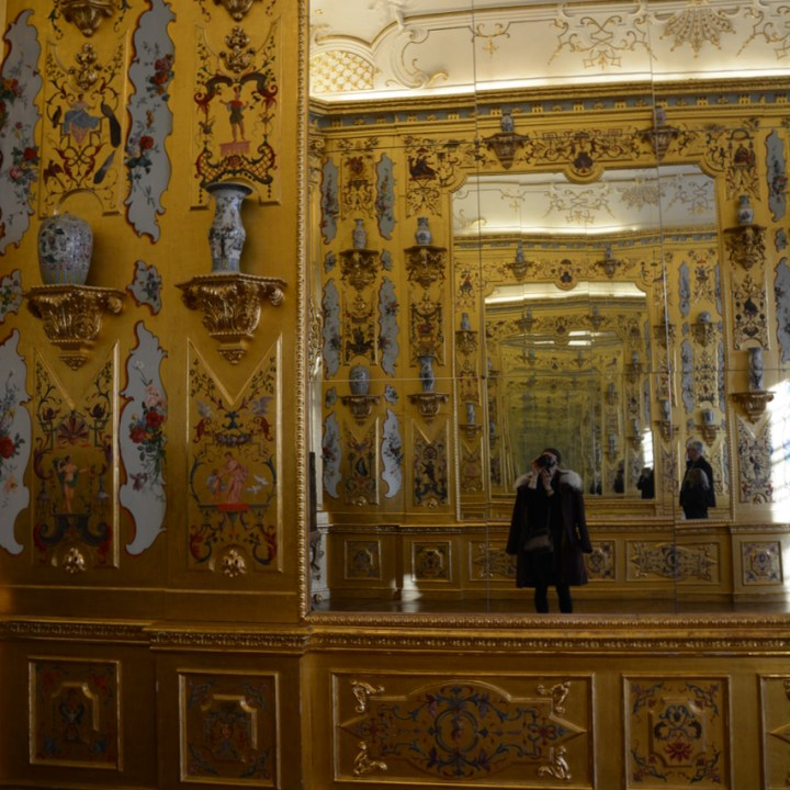 Vienna Wien Austria with children kids lower belvedere gold cabinet