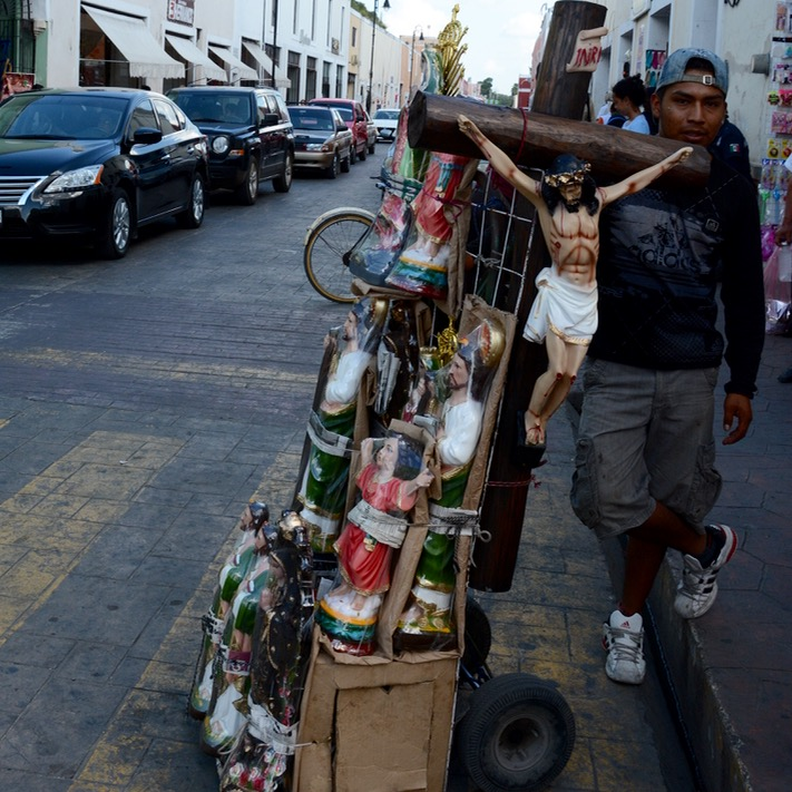 valladolid mexico with children religious icons