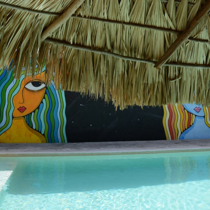 Valladolid mexico with children kids hotel zentik project pool side