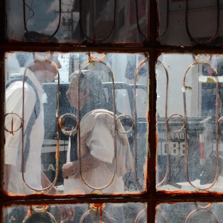 Travel with children kids mexico tizimin window
