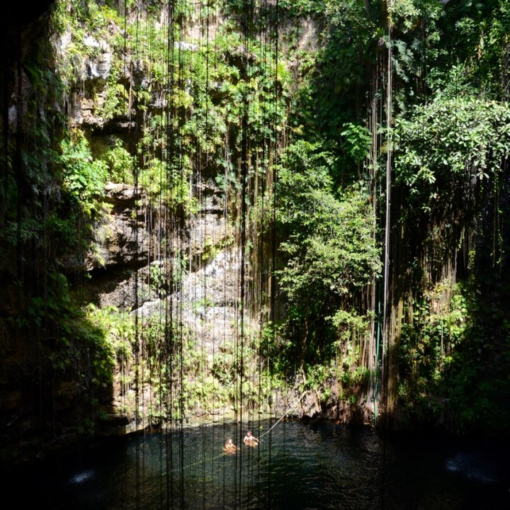 travel with children kids mexico chichen itza cenote ik kil