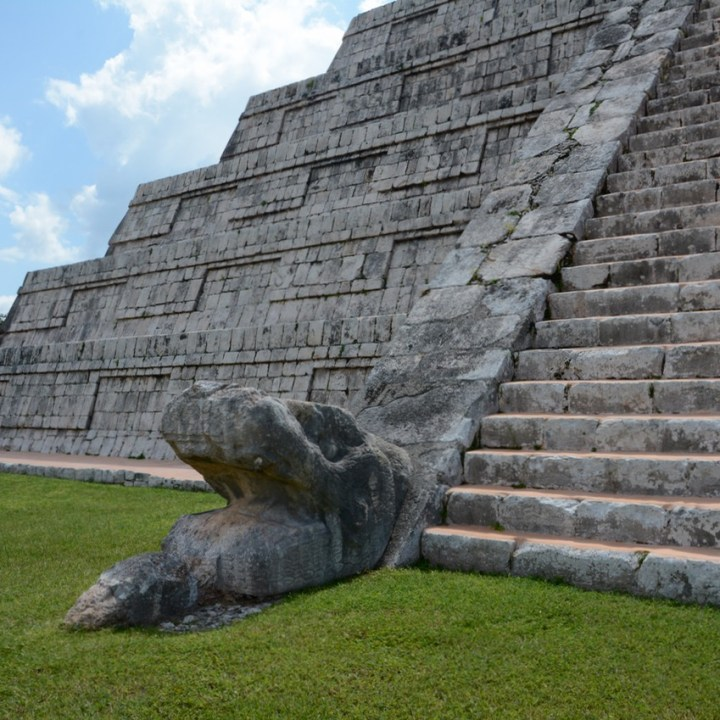travel with children kids mexico chichen itza kukulkan pyramid snake