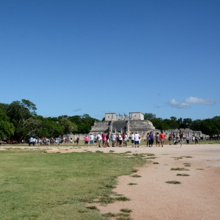 travel with children kids mexico chichen itza temple of warriors