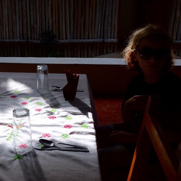 travel with children kids Yokdzonot Cenote lunch
