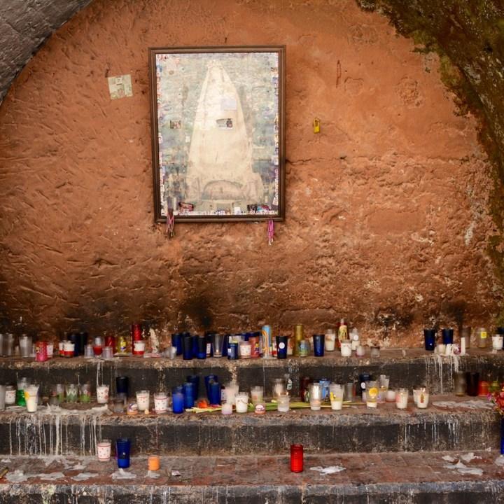 Travel with children kids mexico merida izamal convento de san antonio de padua candles