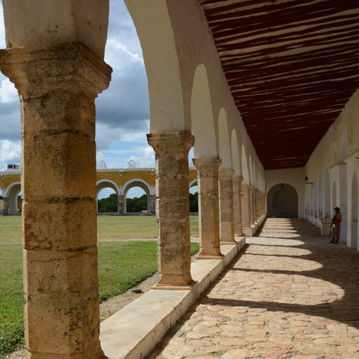 Travel with children kids mexico merida izamal convento de san antonio de padua