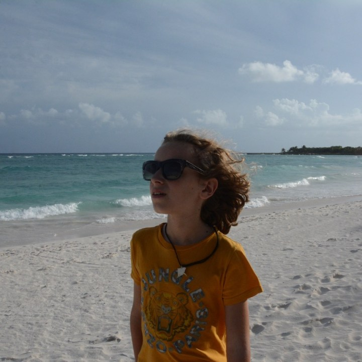 Travel with children kids mexico playa del carmen beach times