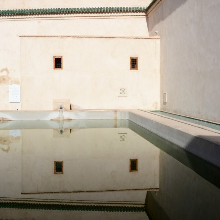 Travel with children kids Marrakesh morocco medina secret garden water reservoir