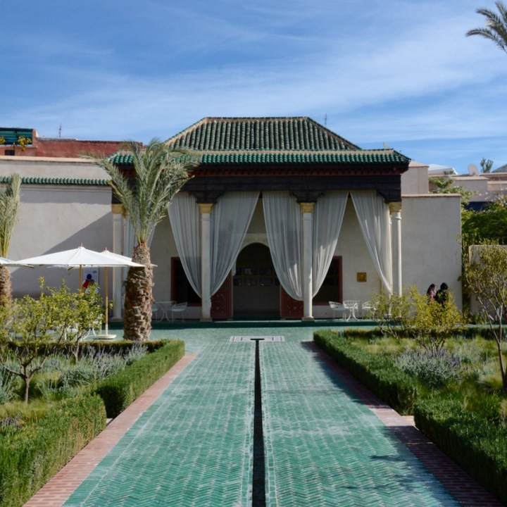 Travel with children kids Marrakesh morocco medina secret garden pavillion