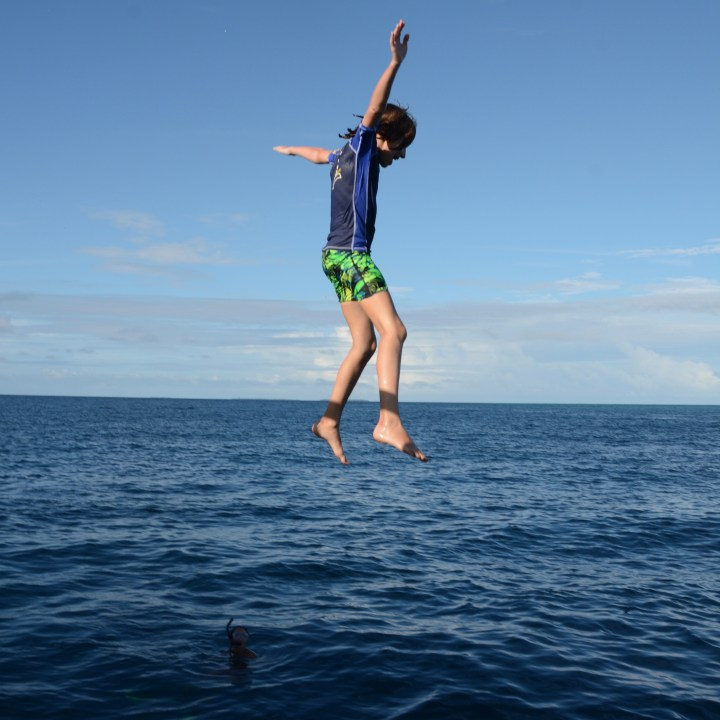 travel with children kids maldives lux south ari atoll jump