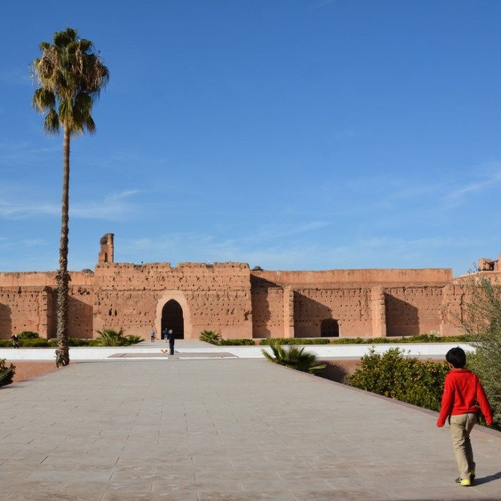 Travel with children kids Marrakesh morocco medina badia palace