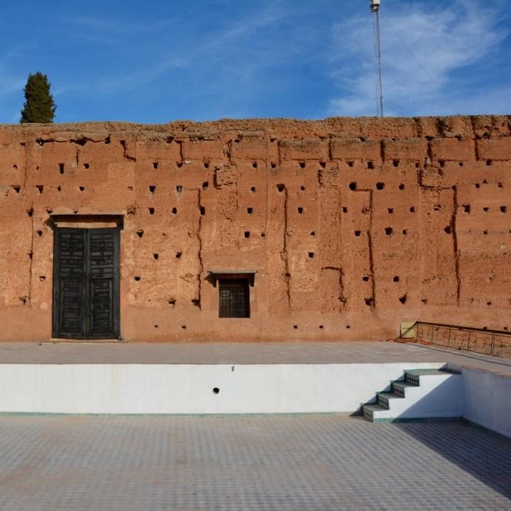 Travel with children kids Marrakesh morocco medina badia palace pool