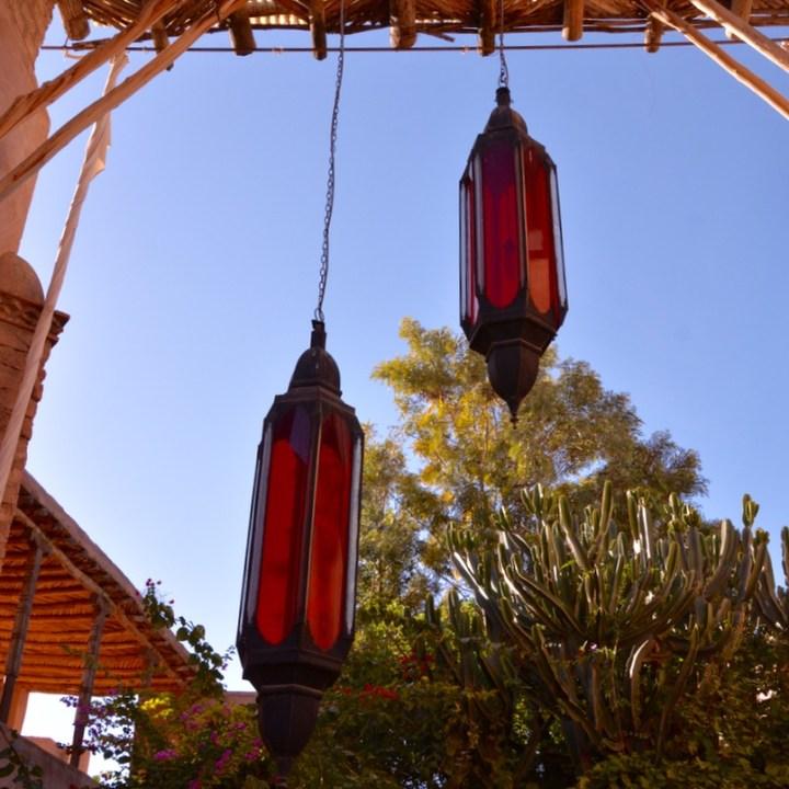 travel with kids children morocco marrakech hotel caravanserai lamps
