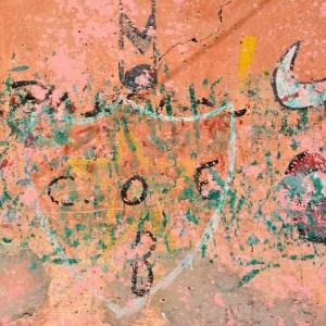 travel with children kids morocco marrakech graffiti