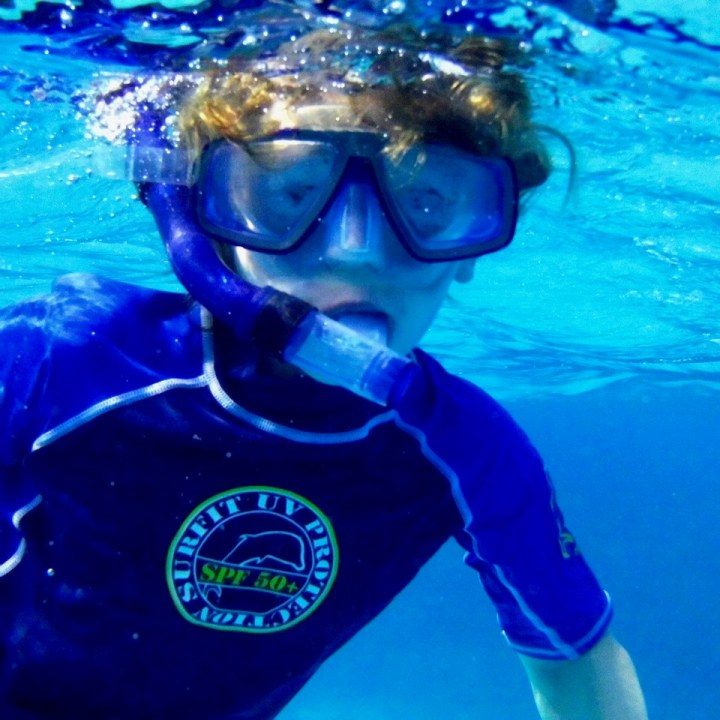 travel with children kids maldives lux south ari atoll snorkel equipment