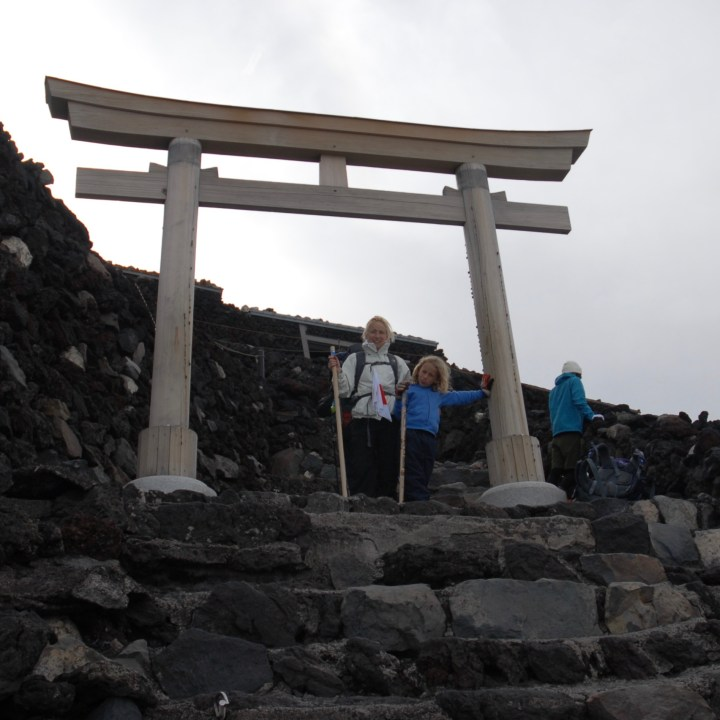 travel with kids children japan climb mount fuji