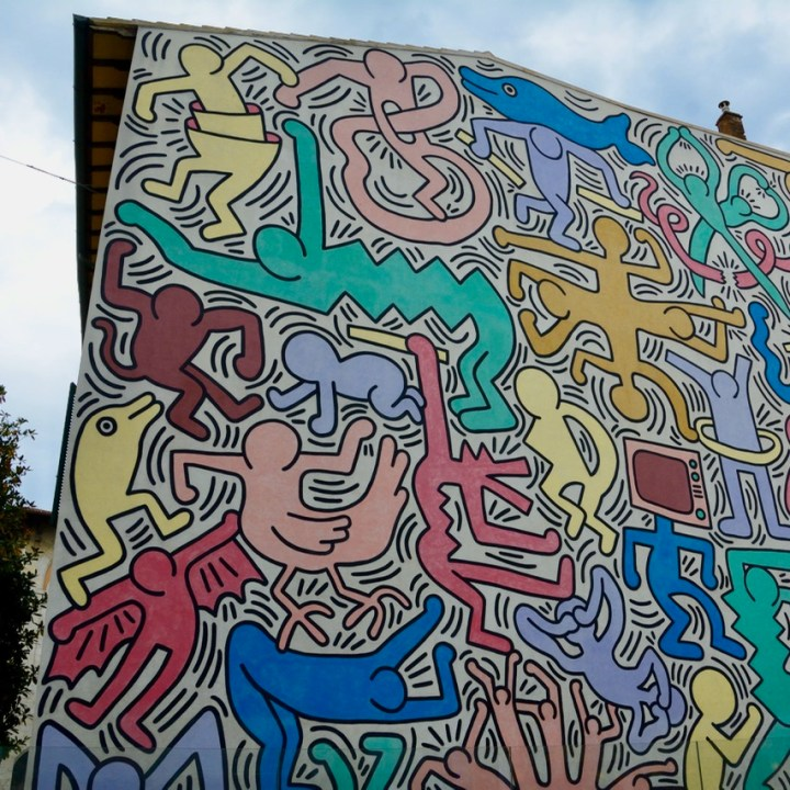 travel with kids children pisa italy keith haring graffiti mural