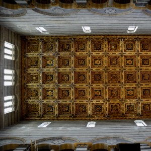 travel with kids children pisa italy miracle square cathedral ceiling